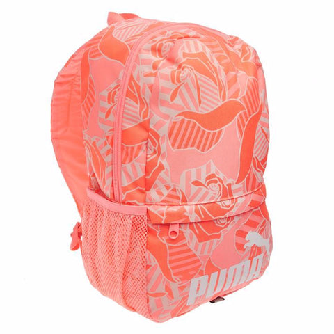 Puma fluo mini backpack peach/white rose