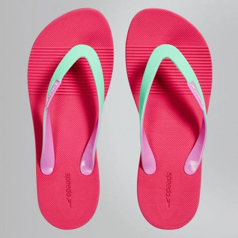 Speedo Saturate II pink and green ladies' thong flip flops