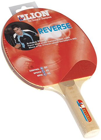 Lion (international) Reverse Table Tennis Bat - Red