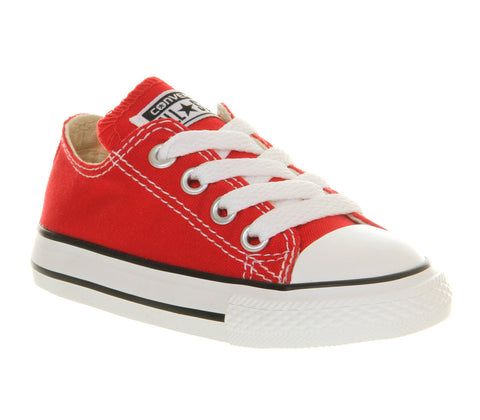 Infant Converse All Stars canvas trainers Black or Red junior