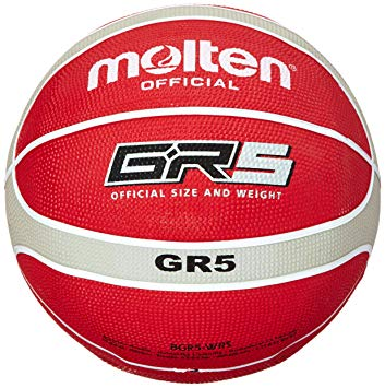 Molten GR5 Size 5 Basketball Red/Silver
