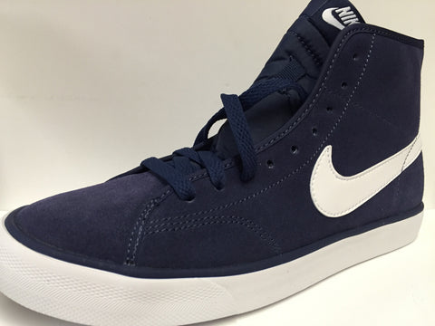 Nike Primo court navy hi top trainers unisex