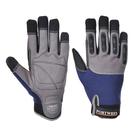 Portwest Work Gloves - A720 - Impact - High Performance Glove Navy