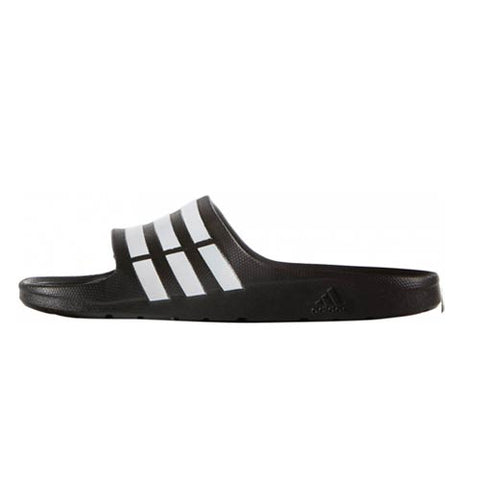Adids duramo slides black and white