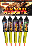 Fireworks - Air Raid Rockets - Pack of 5