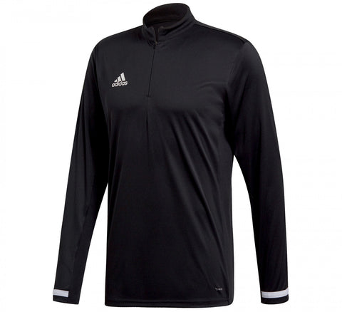 Adidas T19 1/4 zip long sleeved mens shirt black large