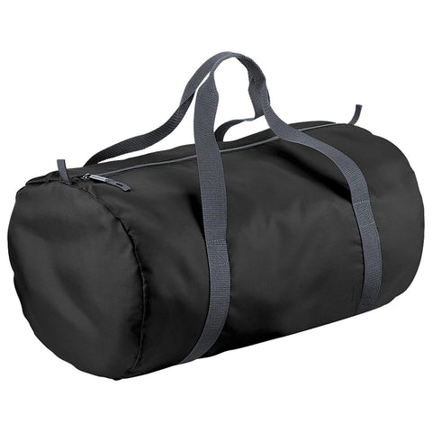 BagBase Packaway Barrel Holdall Bag Black 32Litres