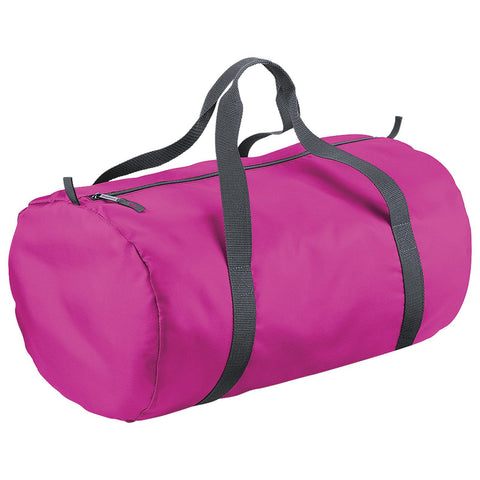 bagbase Packaway Barrel Bag holdall fuschia pink