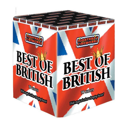 Fireworks- BEST OF BRITISH- 30 Shot Cake