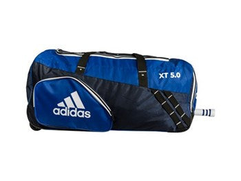Adidas XT 5.0 Cricket Wheelie Bag junior- blue / black