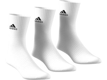 Adidas 3pk Tennis cushioned crew socks - white