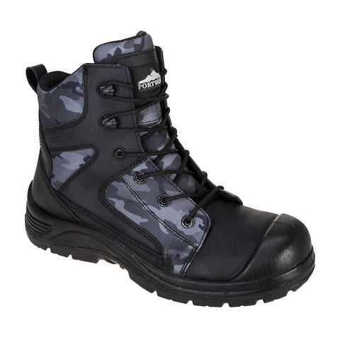 Portwest Work boots FC56 Compositelite Camo Strike steel toe cap Boot S3 WR Black