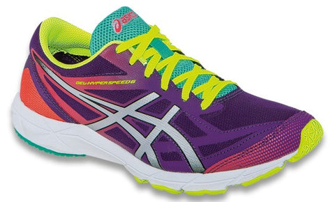 Asics Gel-Hyper Speed 6 - Purple/Silver/Hot Coral - ladies trainer