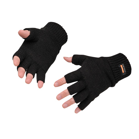 GL14 - Fingerless Knit Insulatex Glove Black
