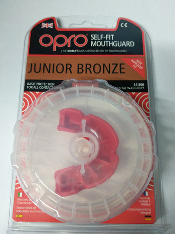 Opro Junior Mouthguard gumshield white /red /blue bronze protection rugby, boxing