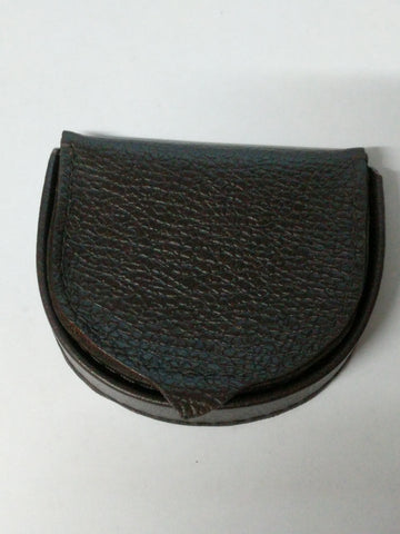 Textured Leather Coin tray purse wallet. black or brown options 650300CBO