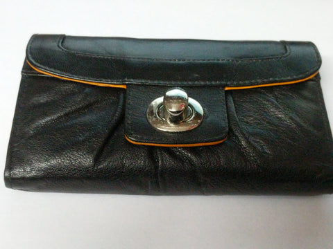 Dominique Leather Purses with Twist Opening