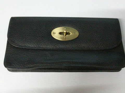 Larger style leather purse with twist clasp