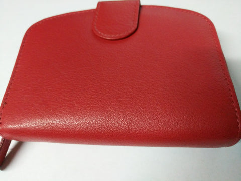 Charles Smith Zip Round Leather Purse- 12x9cm