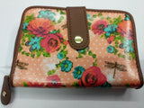 Dragon fly design, Oil Cloth, ladies wallet Purse