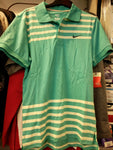nike mens athletic dept turquoise polo size small