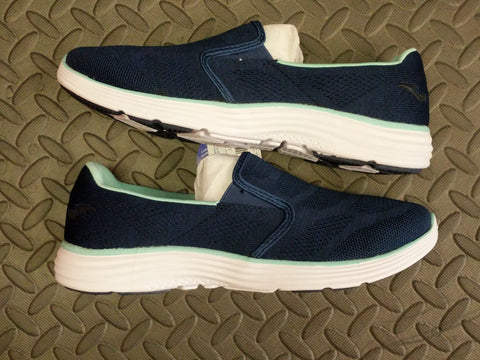 Joma Ladies Memory foam low elastic slip on summer trainers shoes Navy