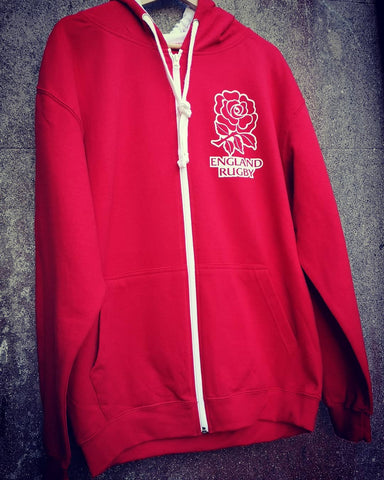 England Rugby World Cup Supporters Zip up Hoodie top S-XXL