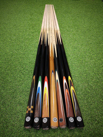 Beginners Budget 2 piece Snooker Cues  by Union Jack