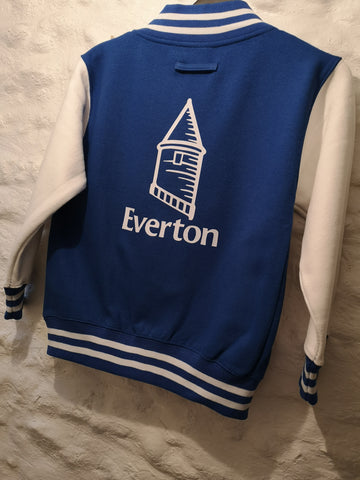 Everton Supporters Varsity Jacket All sizes.
