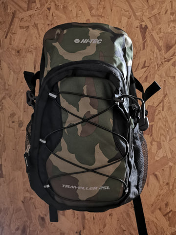Hi-Tec traveller camo backpack