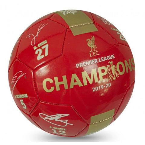 Liverpool champions signature football - size 5 - red/gold
