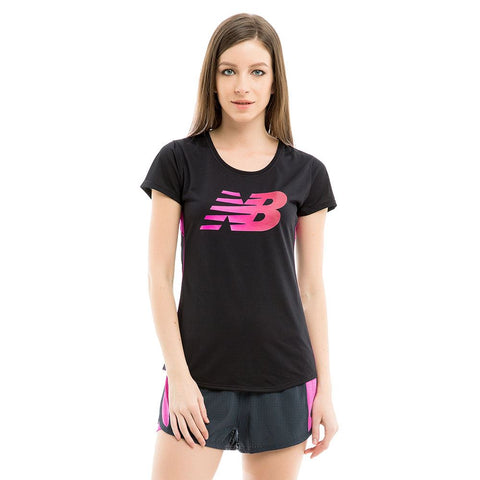 NEW BALANCE Ladies GYM Top T shirt DRY technology