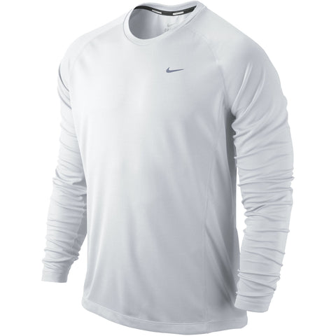 428bf755 Nike Miler Mens Long Sleeve Running reflective silver top T shirt LARGE or  EXTRA LARGE