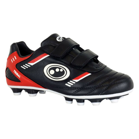 Optimum Velcro Moulded Tribal Black/Red Junior Boots