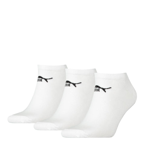 Puma Low down invisible Trainer Socks 3 Pair pack trainer socks white- Size 6-8 or 9-11