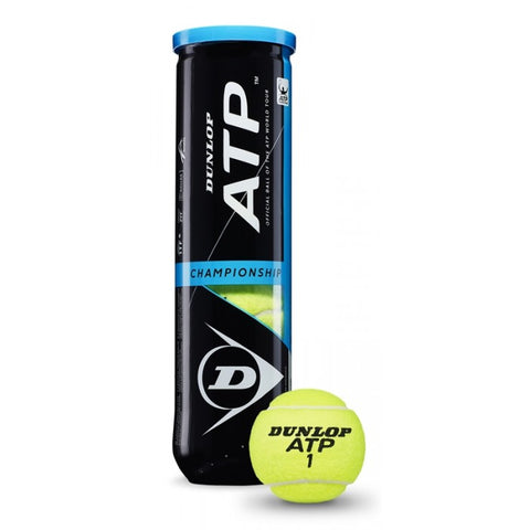 Official DUNLOP ATP CHAMPIONSHIP TENNIS BALLS 4 per tube - Great ball