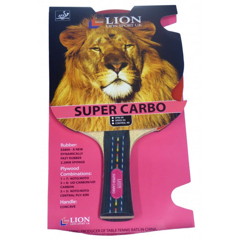 TABLE TENNIS BAT LION SUPER CARBO ITTF APPROVED
