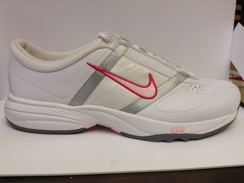 Nike Womens Steady V Leather fitness trainer - pink/white - 6.5