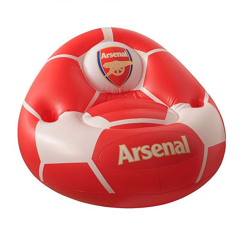 Official Arsenal gunners Blow Up chair with cup holders