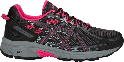 Asics Gel Venture 6 Trail Ladies Running Shoes Black/Pixel Pink