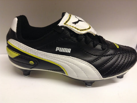 Puma Esito Finale SG Junior football boots (black/white/yellow)
