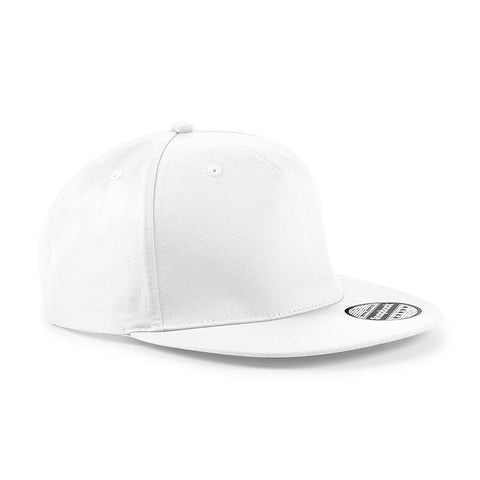 Beechfield white smart fit white B665 snapback