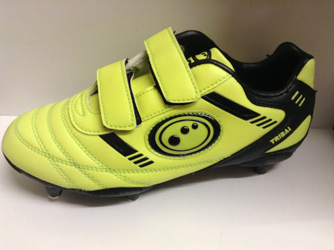 Optimum Tribal junior football boots - velcro, 6 studs (black/yellow)