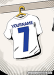Soccer Star Personalised Comic be the star , Any Team Any name!