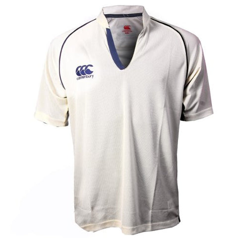 Canterbury Cream/Navy Cricket Shirt Mens/Childs
