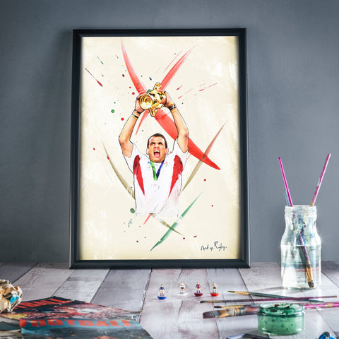 Art of Rugby - England- Carry Me Home- A4 print- Great Gift!!