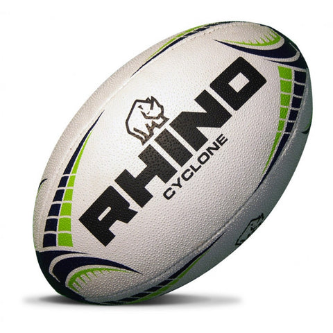 Rhino Cyclone rugby ball white/yellow size 5
