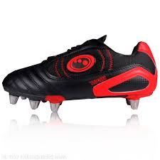Optimum junior velocity rugby boot size 5 black red