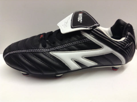 Hi-Tec League SI Jnr football boots - Size 4 - Black and White