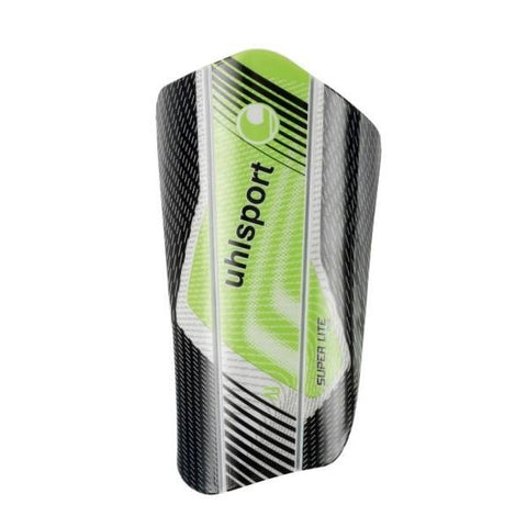 Uhlsport Football Shin Pads Super Lite Plus - Black/Fluo Green/White